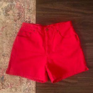 Pants - High Waisted Jean Shorts